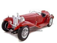 1932 Alfa Romeo 8c Diecast Model 1/18 2300 Spider Touring Red Die Cast Car By Bburago