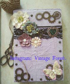 Handmade notebook romantic steampunk and fantasy