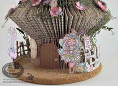 folding book fairy house - Google Search