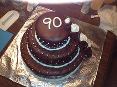 90th birthday cake- buttercream though,  not fondant.
