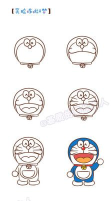 How to draw Doraemon Doodle Drawings, Easy Drawings, Doodle Art, Doraemon, Pet Anime, Learn To Sketch, Dibujos Cute, Cartoon Sketches, Stick Figures