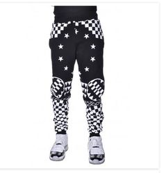 LATHC Dark Geometry Checker Fleece Joggers Blk - $89.99 Solid Black Fabric Material with Contrast Color Elastic Waist and Bottom Hem Slit Front Hand Pockets All Over White Print Design One Back Right Side Pocket Design Print Has Texture Soft Fleece Lining Lightweight Material Contrast Stitching Throughout Also has a matching hoody. http://topstreetwearclothingbrands.com/mens-urban-jogger-pants/ #urbanjoggerPants #joggerpants #urbanfashion Jogger Sweatpants, Comfortable Fit for Men