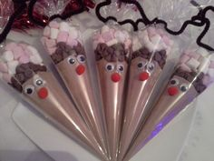 Large Reindeer Hot chocolate sweet cone, teachers gift, stocking fillers, christmas eve box by KiddyCrafty on Etsy https://www.etsy.com/uk/listing/260552087/large-reindeer-hot-chocolate-sweet-cone