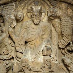 Abbatiale Saint-Pierre de Moissac christ in grace detail
