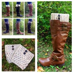 Crochet Boot Cuffs With Buttons  Many by GrindleHillFineGoods