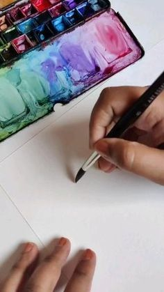 Watercolor Art Lessons, Watercolor Paintings For Beginners, Watercolor Techniques, Watercolor Pencil Art, Watercolor Journal, Watercolor Art Paintings, Watercolor Landscape Paintings, Beginner Painting, Painting Videos