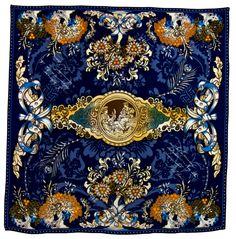 Foulard en soie satin bleu marine antica premium 90 x 90 cm - Foulard/Foulard soie carré - Mes Echarpes