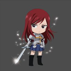 The queen of the costume change, this high-class wizard can switch armor and conjure heavy weaponry for any occasion. She's a force to be reckoned with, and then some. I present Titania Erza Scarlet Fairy Tail Art, Fairy Tail Girls, Fairy Tail Ships, Fairy Tail Anime, Fairy Tales, Super Manga, Erza Scarlett, Fairy Tail Erza Scarlet, Naruto
