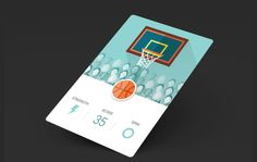 A funny basketball Game - UI / UX Design - With After Effects - By ZENETIC