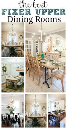 The best Fixer Upper Dining rooms. A must pin for farmhouse style dining room inspiration!
