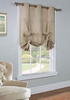 Alcott Hill Hopedale Curtain Grommet Tie-Up Single Curtain Panel Color: Tie Up Curtains, Home Curtains, Country Curtains, Lined Curtains, Grommet Curtains, Kitchen Curtains, Blackout Curtains, Window Curtains, Valance
