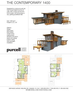 Purcell Timber Frames - Full Home Packages and Prefabricated Houses - The Contemporary 1400