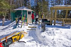 Yurt Camping- At Ontario Parks Winter Camping, Winter Fun, Yurt Camping, Ontario Parks, Algonquin Park, Winter Activities, The Great Outdoors, More Fun, Outdoor Gear