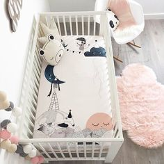 When your crib sheets are like a work of art. | Shop. Rent. Consign. MotherhoodCloset.com Maternity Consignment