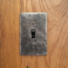 "1/8"" Forged Steel, Hammer Textured Light Switch Plate, $16"