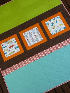 boys quilt back by @Rita from #RedPepperQuilts