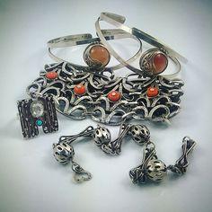 Polish artistic jewellery from PRL - ORNO, Warmet