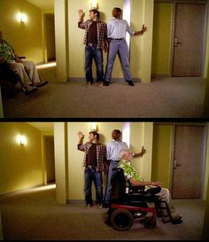 I peed my pants watching this episode!! Psych - Shawn and Gus, The Wallpaper