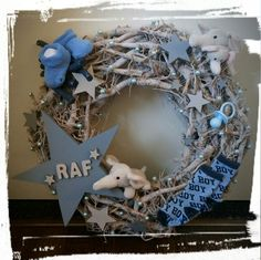 Hanukkah, Baby Boy, Diy Crafts, Wreaths, Make Your Own, Homemade, Diy Home Crafts, Craft, Diy Projects