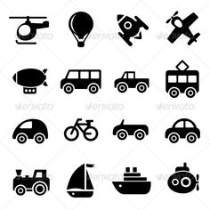 Transportation Icons  #GraphicRiver         Transportation icons     Created: 3October13 GraphicsFilesIncluded: JPGImage #VectorEPS #AIIllustrator HighResolution: No Layered: No MinimumAdobeCSVersion: CS Tags: airplane #bicycle #bike #brand #bus #business #buttons #car #commercial #computer #cycling #design #figure #helicopter #icon #icons #motor #motorcycle #sailboat #set #ship #symbol #taxi #train #transport #transportation #travel #truck #van #vessel