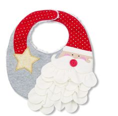 Protect your little one from spills and mess during mealtime with this Santa bib by Mud Pie. This cotton interlock bib features a Santa appliqué with layered jersey beard, dimensional button nose, gol