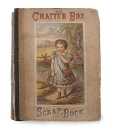 A children's periodical, The Chatterbox was published in Great Britain from 1866 to the mid-1950s. The popular magazine inspired imitators on this side of the pond, as American printers lifted its name for use on publications and other paper goods, like this 16-page scrapbook. A U.S. Centennial souvenir card inside suggests that the book dates to around 1876, a provenance supported by the style of the cover illustration. While this find's collected contents aren't that remarkable, they do…