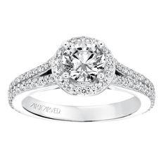 Classic Diamond Halo With Split Shank Engagement Ring - Split Shank Engagement Rings, Halo Diamond Engagement Ring, Classic, Diamonds, Accessories, Future, Jewelry, Derby, Future Tense