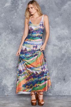The Seine at Herblay Maxi Dress - LIMITED ($140AUD) by BlackMilk Clothing
