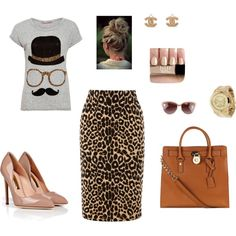 """Look animal print !"" by alessandra-ramos on Polyvore"