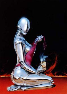 """""Chrome I"" by Hajime Sorayama (1981)"