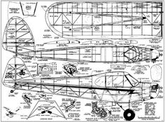 Piper Cub 70in - Plans - Model Airplane Plan