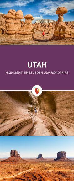 Eine Übersicht der schönsten Nationalparks, National Monuments und National Forests von Ost nach West in Utah - Infos via Urlaubspiraten.de