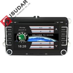 New Price $146.90, Buy Two Din 7 Inch Car DVD Player For Skoda/Octavia/Fabia/Rapid/Yeti/Superb/VW/Seat With Wifi Radio FM GPS Navigation 1080P Ipod Map