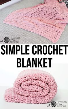 Simple Crochet Blanket Pattern From Rescued Paw Designs Free & Simple Crochet Blanket Pattern - Perfect for Beginners!