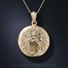 Victorian Gold Locket - 90-1-4512 - Lang Antiques
