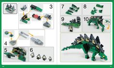 Whether you're brand new to LEGO or have been building for years, unleash your imagination with The LEGO Adventure Book! Learn to build robots, trains, medieval villages, and much more. Dinosaur Projects, Lego Projects, Bloc Lego, Lego Jurassic World, Jurassic Park, Lego Books, Lego Robot, Lego Lego, Lego Kits