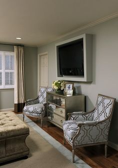 15 Creative Ways to Design or Decorate Around A Flat Screen TV - Schneiderman's {the blog}