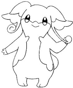 Coloring Pages Pokemon - Audino - Drawings Pokemon