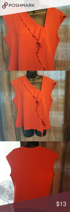 "Anne Klein Pretty sleeveless roast orange color Blouse. Length 20"" Bust measures up too 36 Anne Klein Tops Blouses"
