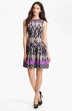 Jessica Simpson Print Fit & Flare Dress available at #Nordstrom