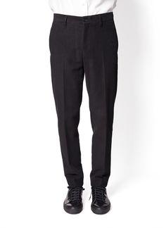 Acne Studios - Fall Winter 2014 - Menswear // Black Stan J Moleskin Trousers Pants