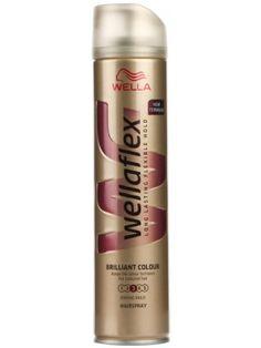 WELLAFLEX 250ml Lakier lśniący kolor mocny  • pomaga uzyskać wymarzoną fryzurę • nie skleja włosów • daje długotrwały efekt • chroni kolor włosów