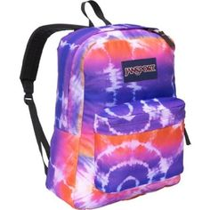 Amazon.com: Jansport Pink and Purple Tie Dye Style Superbreak Backpack