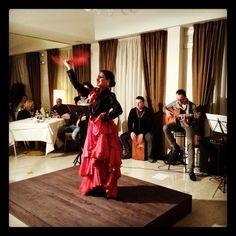 Flamenco event at the Magic Hotel, with the bailaora Simona Alfano