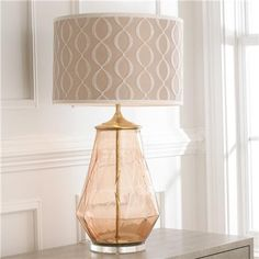 Young House Love Diamond Patterned Glass Table Lamp