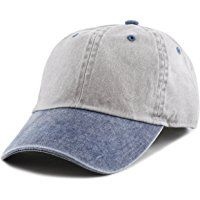 8d1a8d42 The Hat Depot Cotton Pigment Dyed Two Tone Low Profile Six Panel Cap Hat