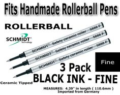 Refills for pens  Real Schmidt Rollerball Ink by TrobeePens, $9.99