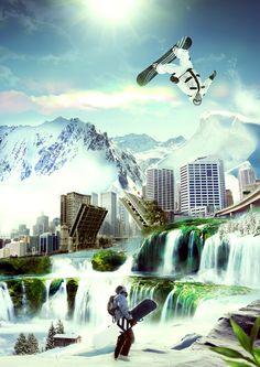 #photoshop #snowboarding