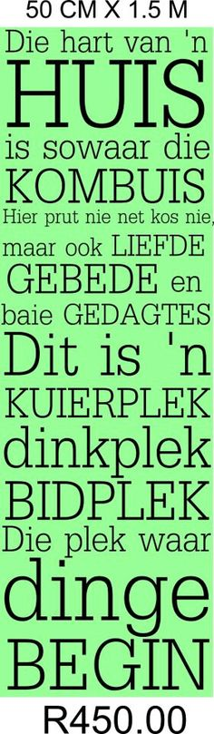 Huis - kombuis Sign Quotes, Wall Quotes, Qoutes, Afrikaanse Quotes, Quote Board, Pallet Signs, Quote Of The Day, Verses, Inspirational Quotes