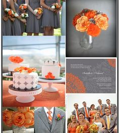 The more I look at it, the more I love the idea of an orange and grey wedding!